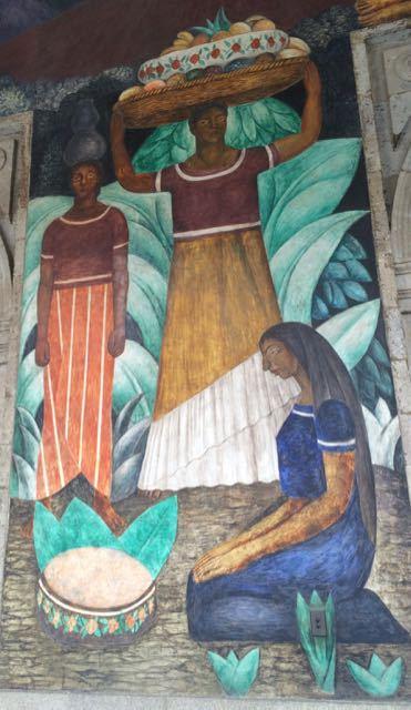 Diego Rivera mural in Mexico City