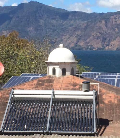 solar water heater fixed