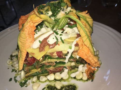 raw lasagna at Cafe Gratitude