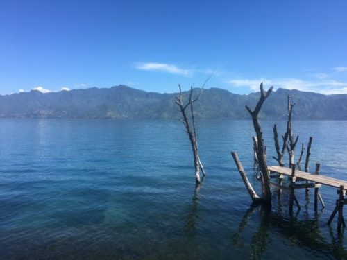 A perfect morning for a swim in Lake Atitlan