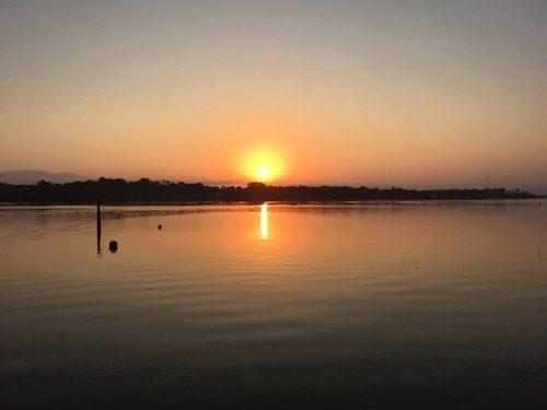 Sunrise over the Rio Dulce