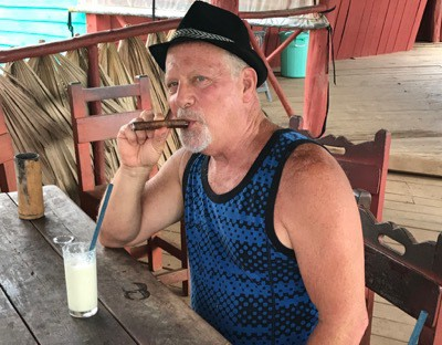 Piña coladas and cigars at a tobacco farm in Viñales