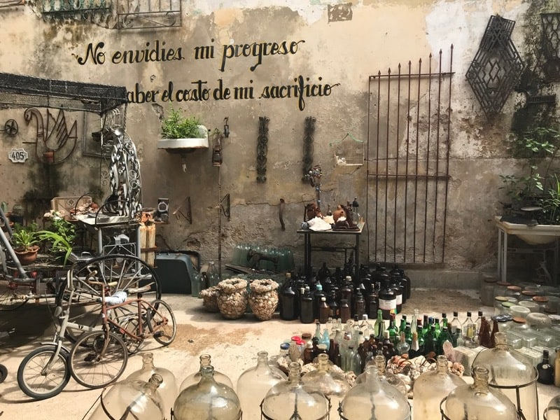 Recycled items shop in Centro Havana