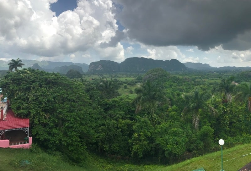 View of the Viñales Valley from Los Jazmines