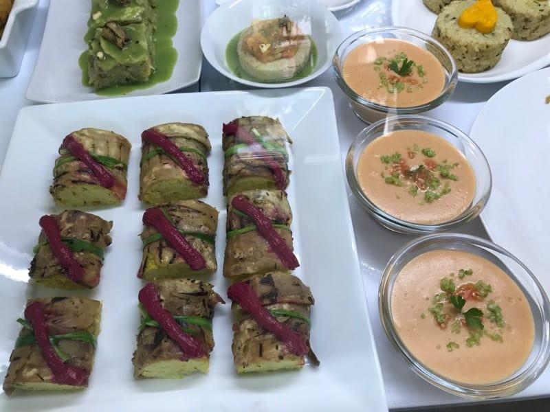 Prepared foods at Camino al Sol in Vedado